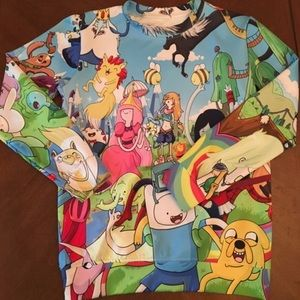Adventure Time All Over Print Sweatshirt